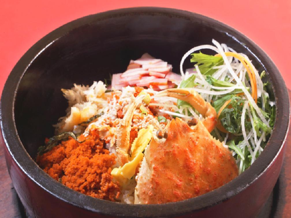 石焼きセイコガニ炒飯